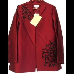 Victor Costa Women's Silk Blazer Medium QVC